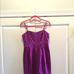 Satin Short Party Dress with Adjustable Straps!